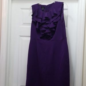 EUC Royal purple sheath dress Sz 10